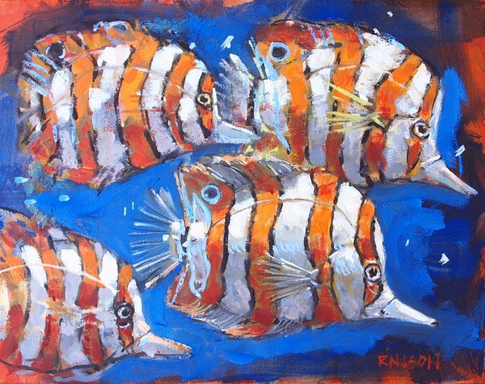 """Little Fish"" original fine art by Rick Nilson"