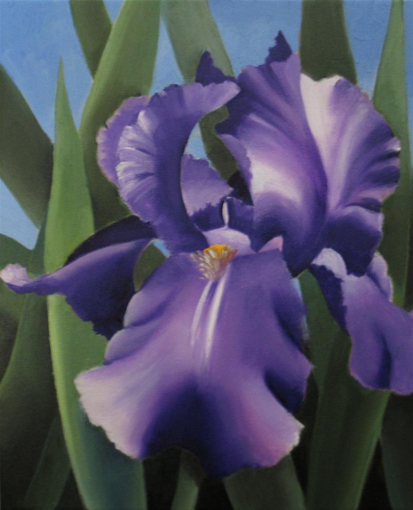 """Purple Iris"" original fine art by Nel Jansen"