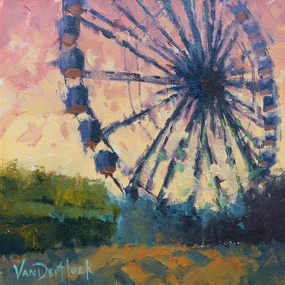 """""""Turning Circles"""" original fine art by Kim VanDerHoek"""