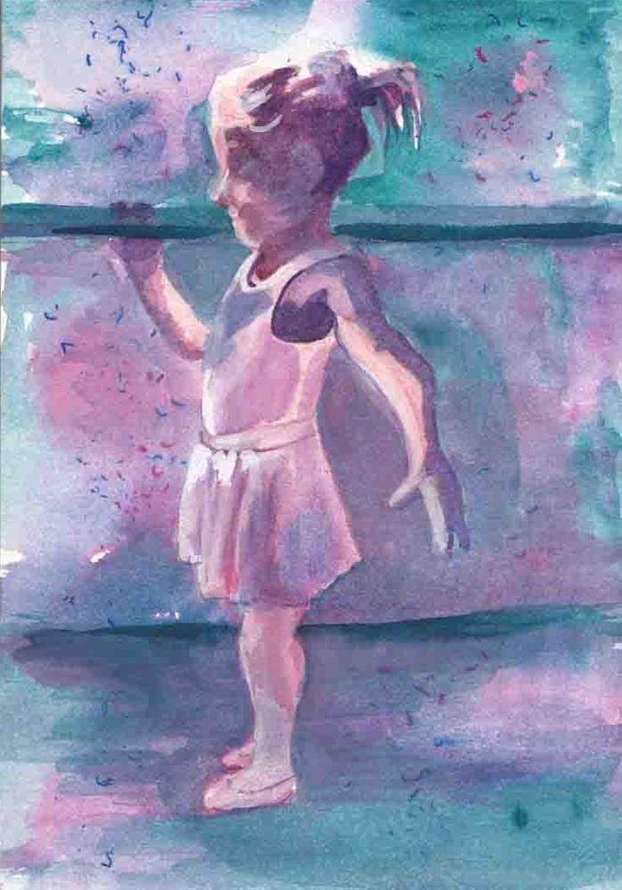 """Tiny Dancer"" original fine art by Bunny Griffeth"