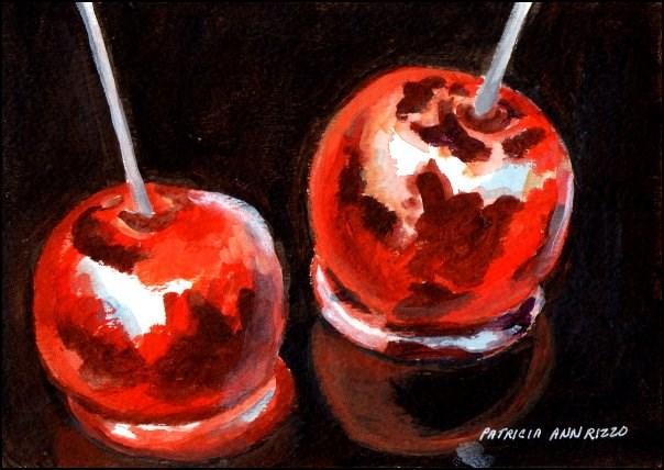 """Candy Apples"" original fine art by Patricia Ann Rizzo"