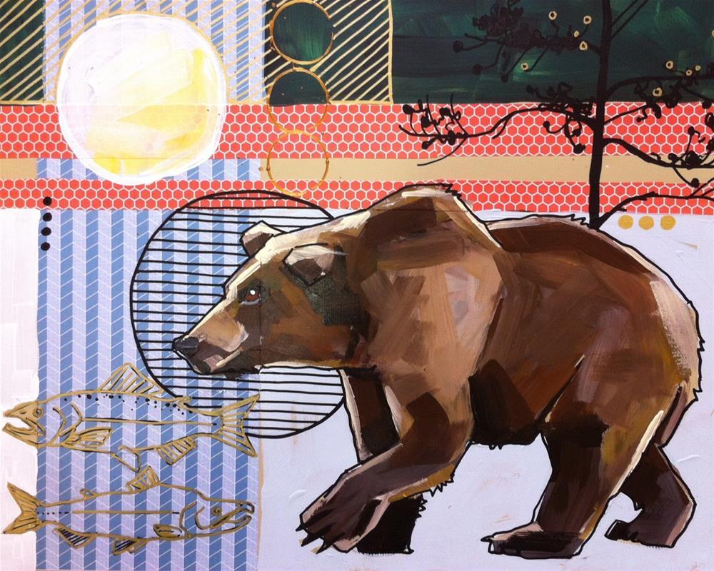 """Lucas' Bear Commission"" original fine art by Teddi Parker"
