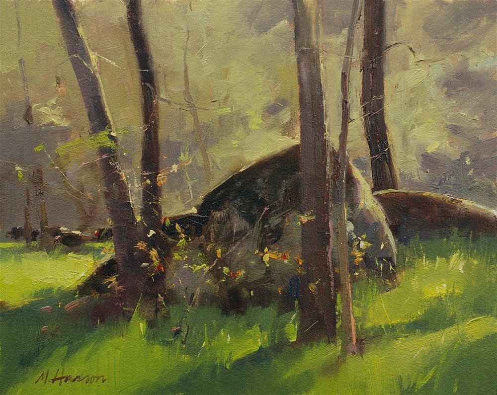 """Turkey Woodland"" original fine art by Marc Hanson"