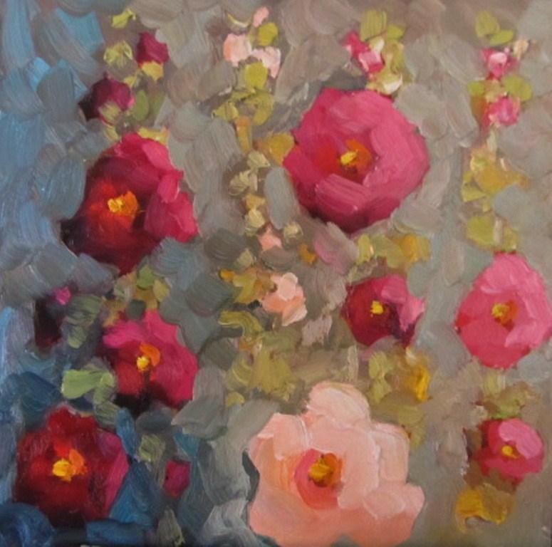 """The Pinks"" original fine art by Dee Sanchez"