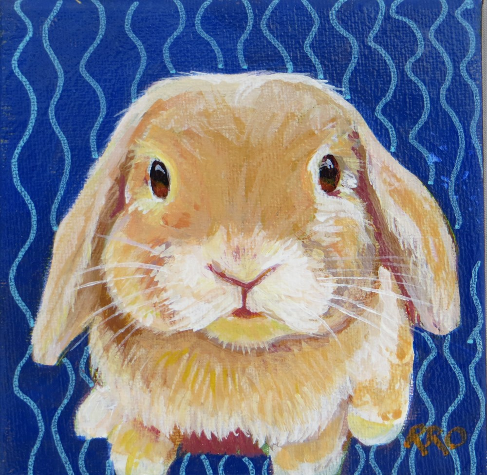 """Bunny"" original fine art by Rhett Regina Owings"