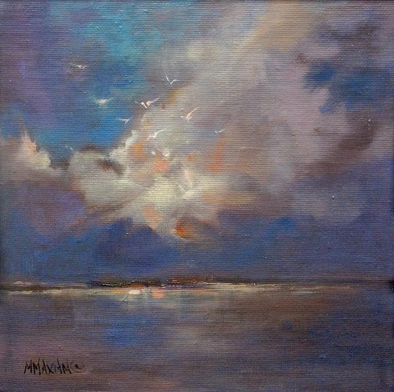 """""""Before Dark"""" original fine art by Mary Maxam"""