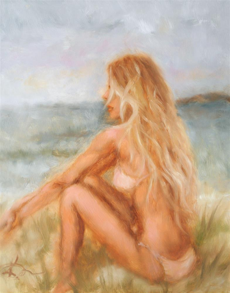"""Toes in the Sand"" original fine art by Kelly Berkey"