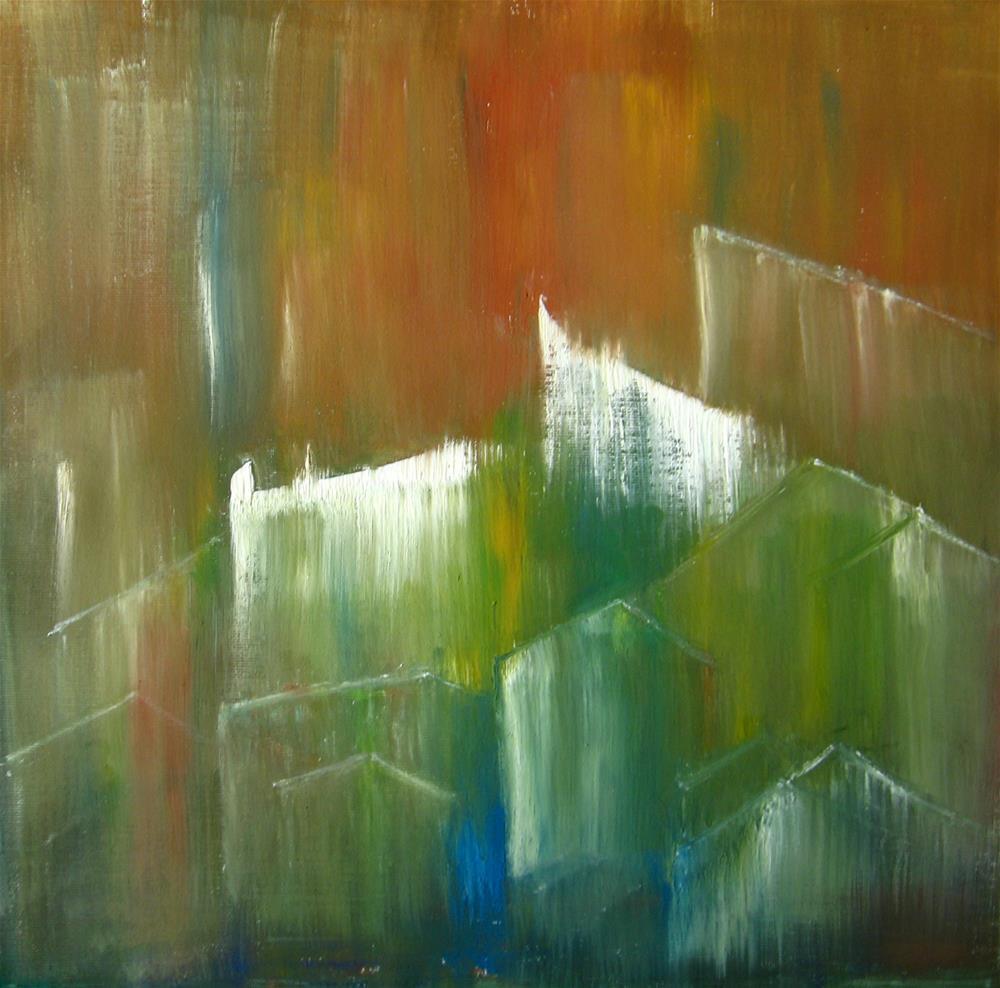 """The Village"" original fine art by Alina Frent"