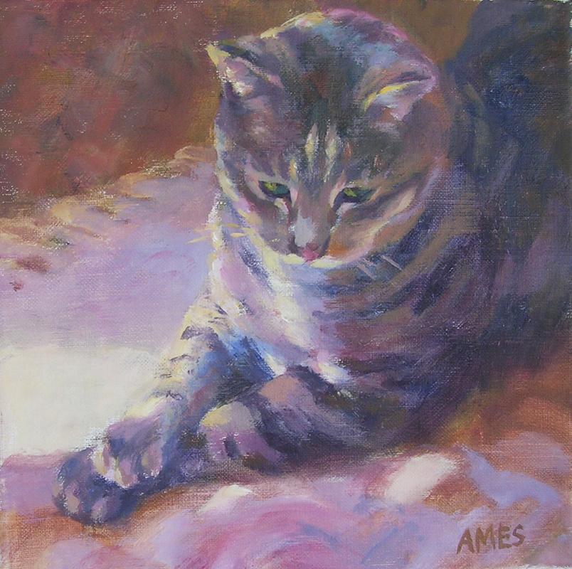 """""""Oscar"""" original fine art by Debra Ames"""