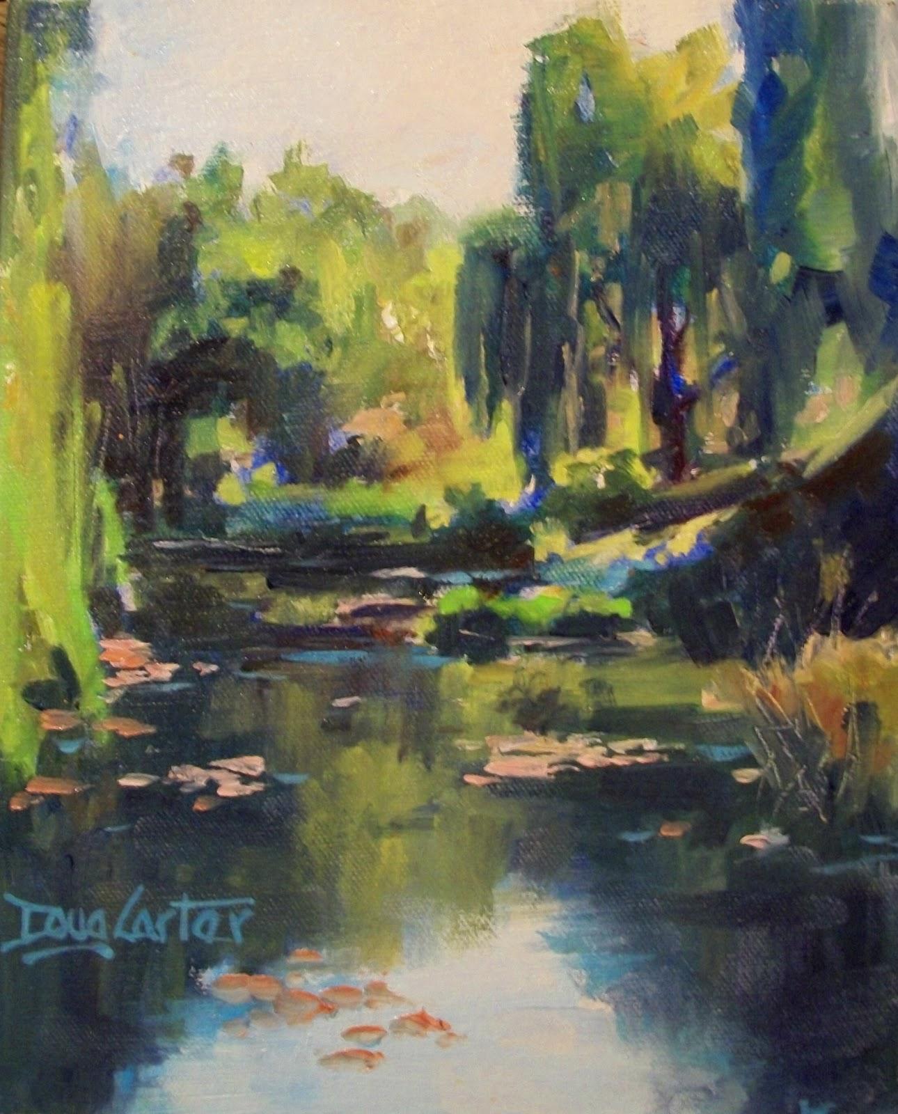"""""""Hidden Pond"""" original fine art by Doug Carter"""