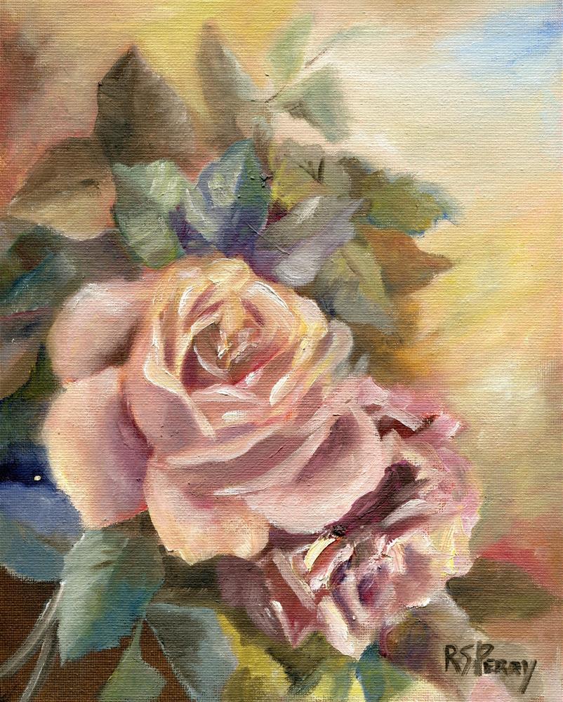 """Friendship Rose"" original fine art by R. S. Perry"