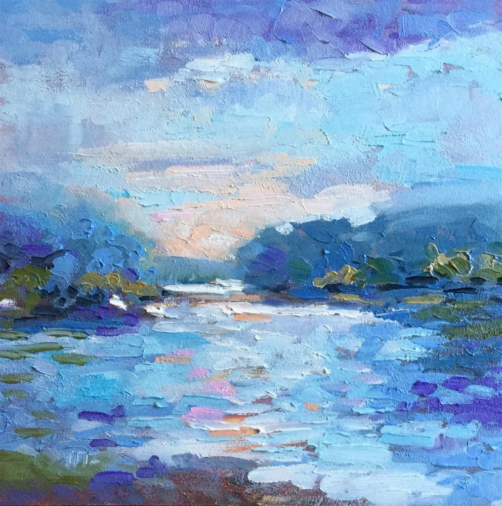 """View from the Bank"" original fine art by Charlotte Fitzgerald"