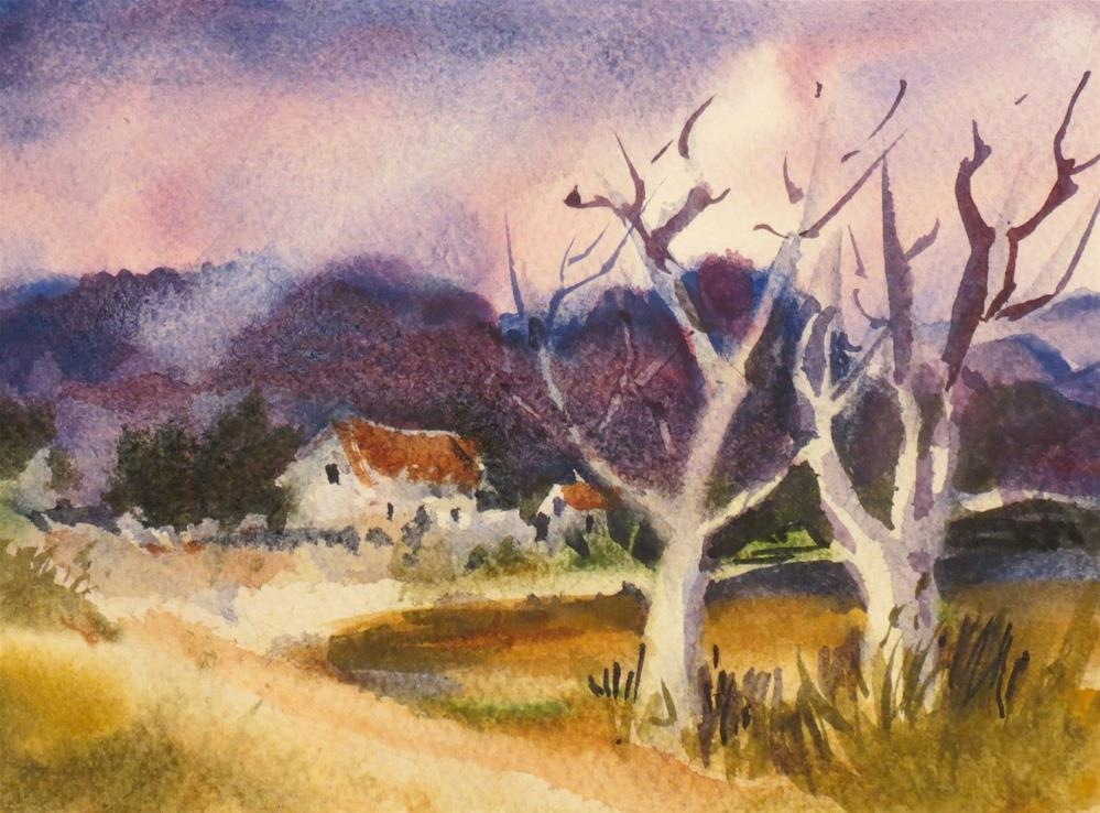 """Purple Morning"" original fine art by Dann Morris"