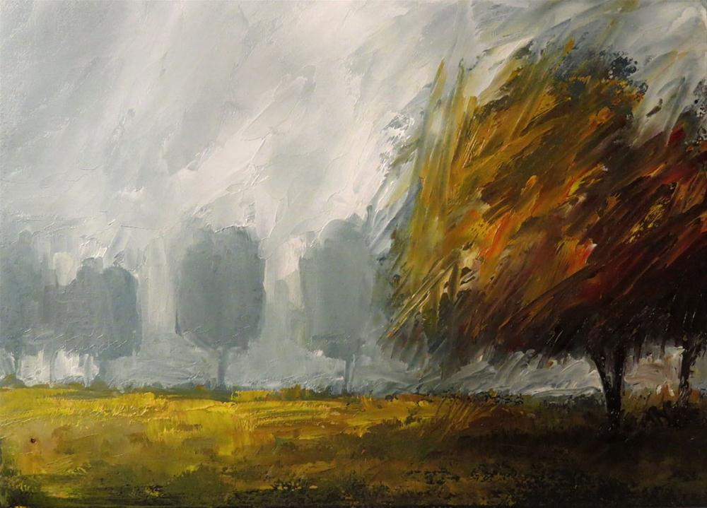 """""""Trees in the Mist"""" original fine art by Bob Kimball"""