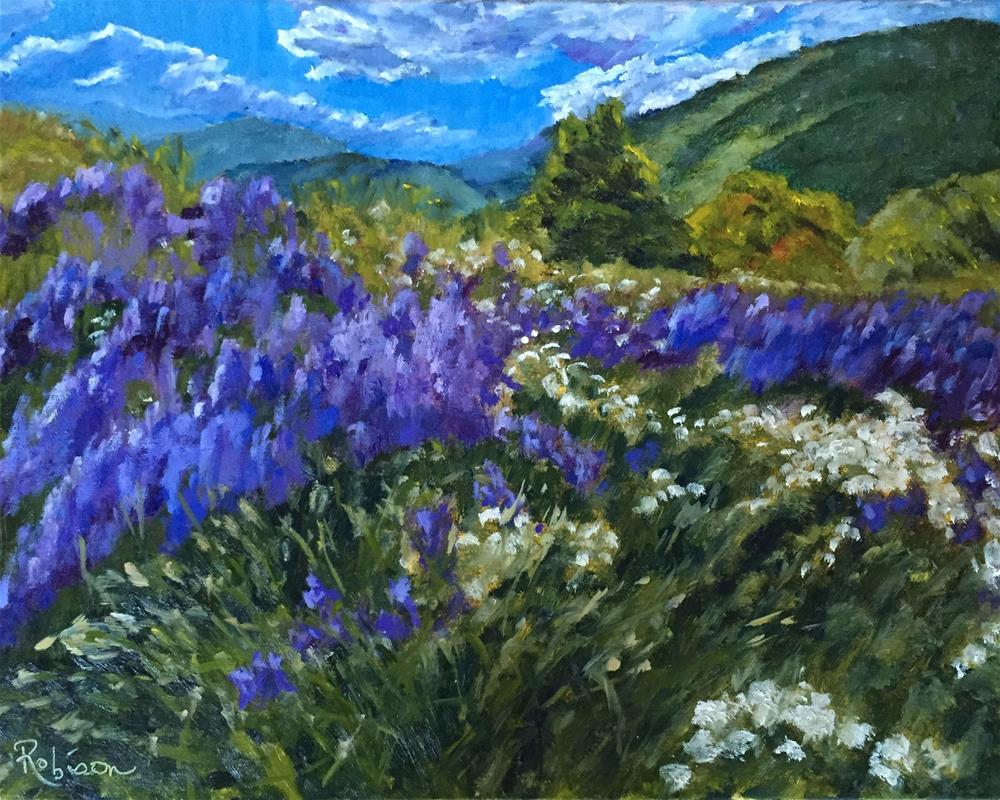 """The Hills are Alive"" original fine art by Renee Robison"