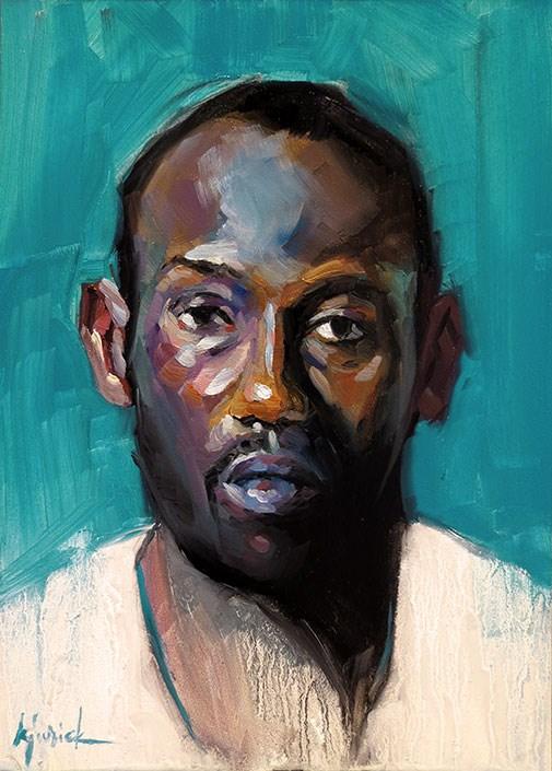 """200 Faces, No. 150"" original fine art by Karin Jurick"