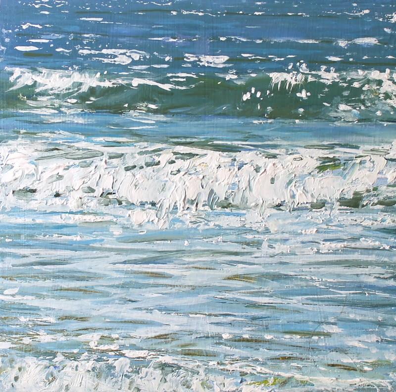 """Sea Horses"" original fine art by Ken Devine"