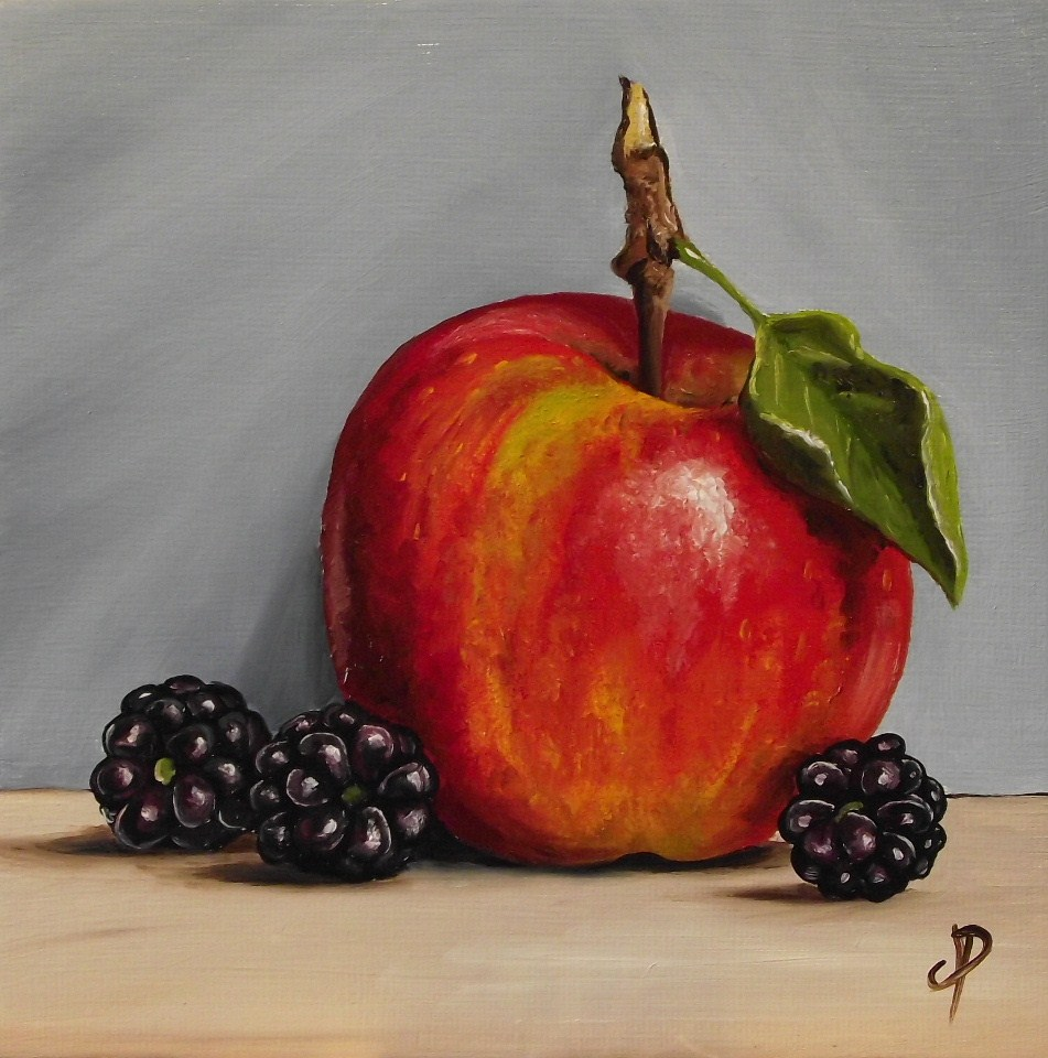 """Apple & Blackberry"" original fine art by Jane Palmer"