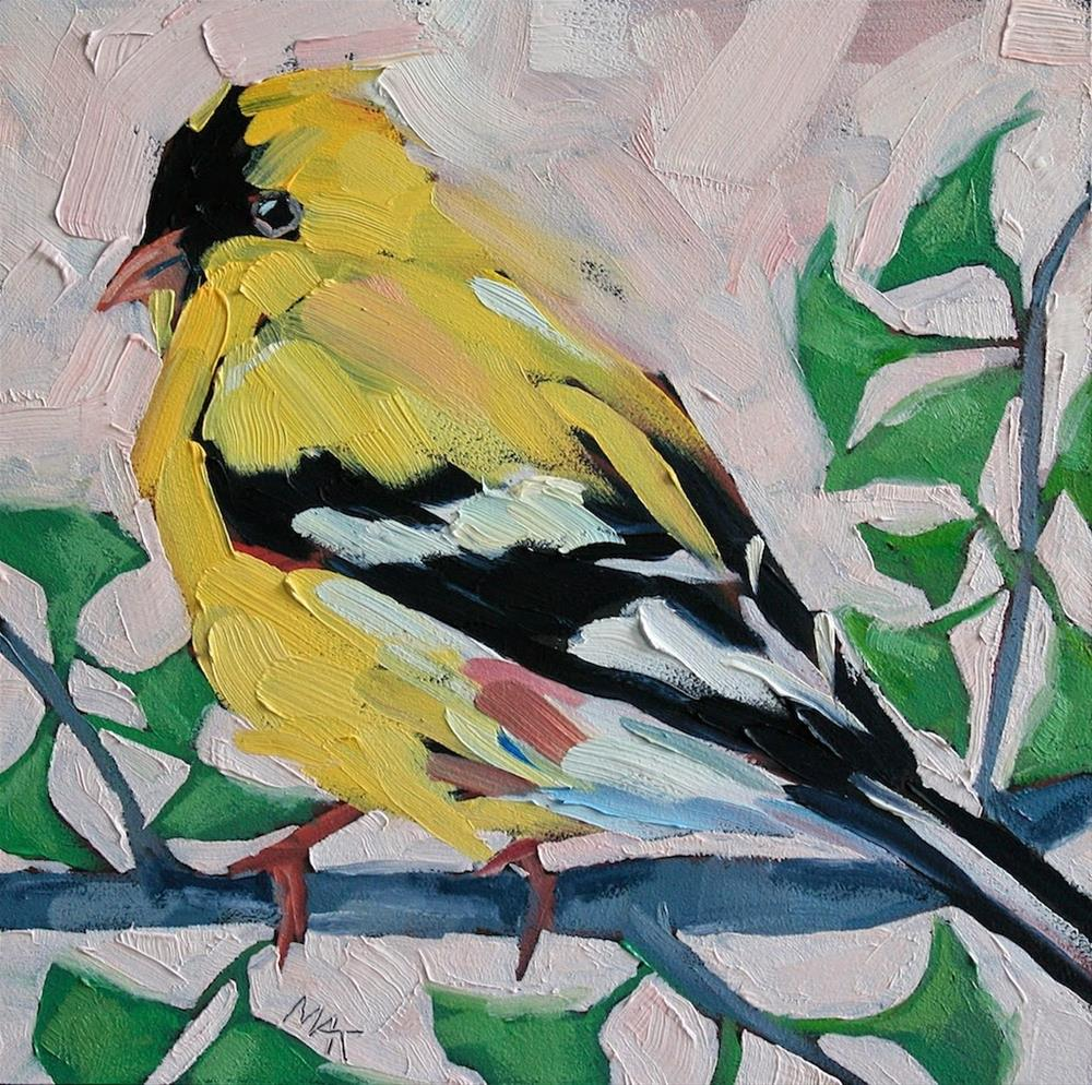 """""""Mr. Finch"""" original fine art by Mary Anne Cary"""