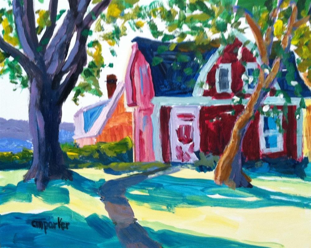 """Barn"" original fine art by Christine Parker"