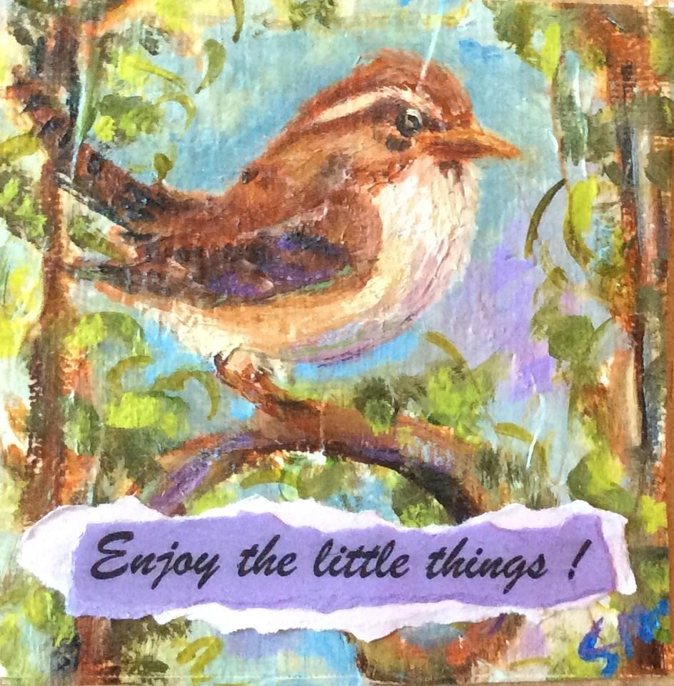 """The little things"" original fine art by Susie Monzingo"
