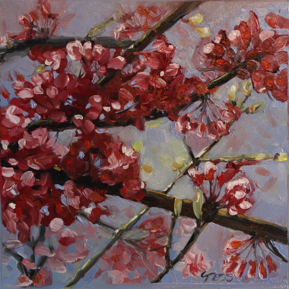 """Day 8- Redbud"" original fine art by Tess Lehman"