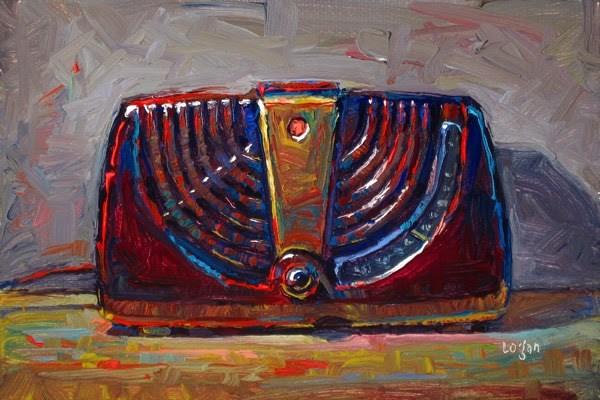 """Zenith Consoltone Radio"" original fine art by Raymond Logan"