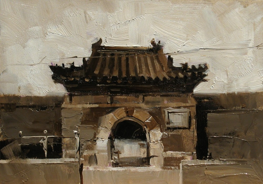 """On a Beijing Street 3"" original fine art by Qiang Huang"