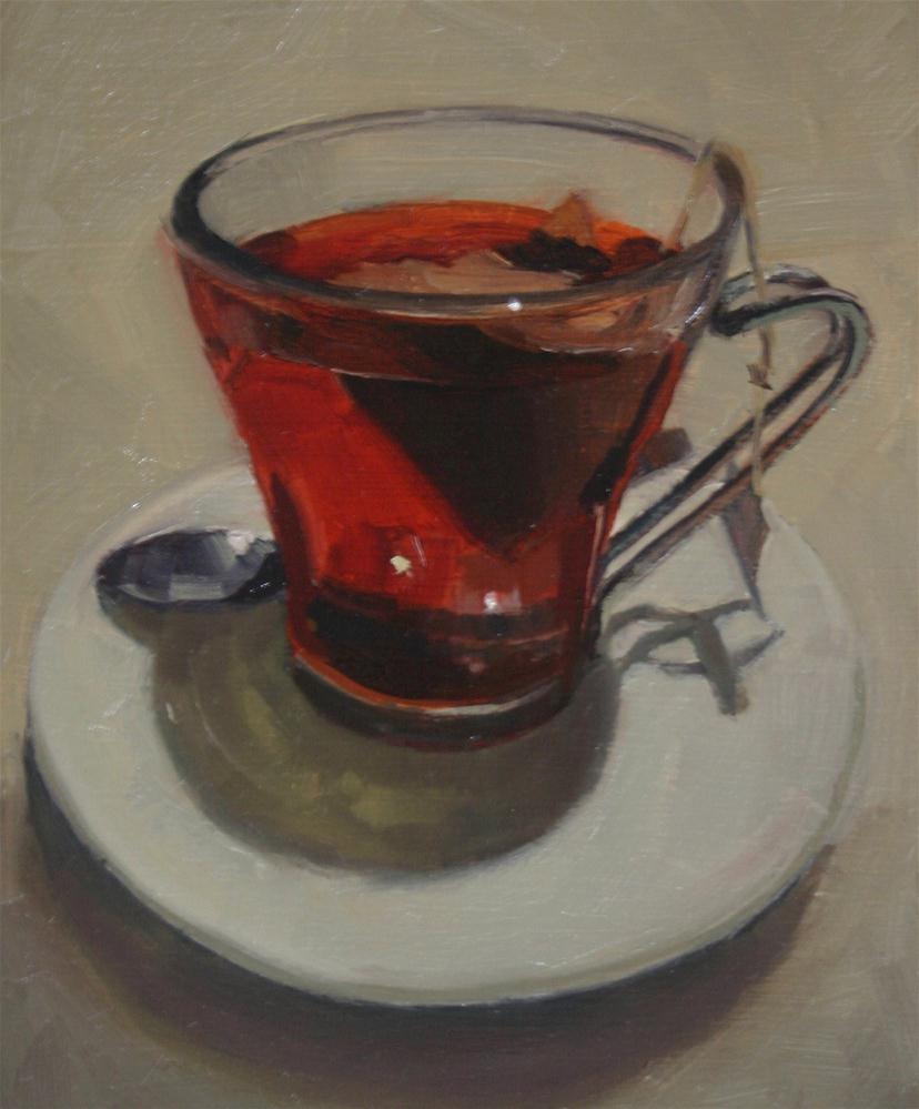 """Tea at Caluccio's"" original fine art by Liz Balkwill"