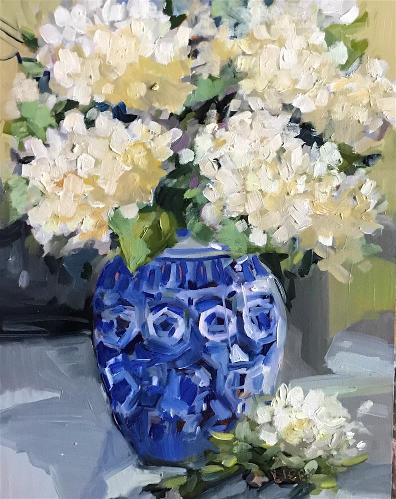 """Blue Survey"" original fine art by Libby Anderson"