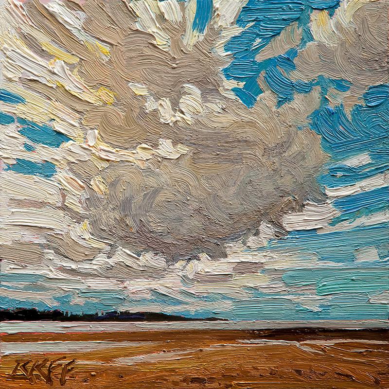 """""""Tide's Out: 6x6 oil on panel"""" original fine art by Ken Faulks"""