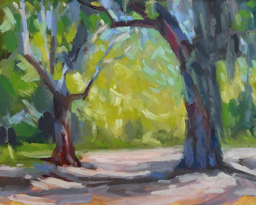 """St. Simons Oaks"" original fine art by Adam Houston"