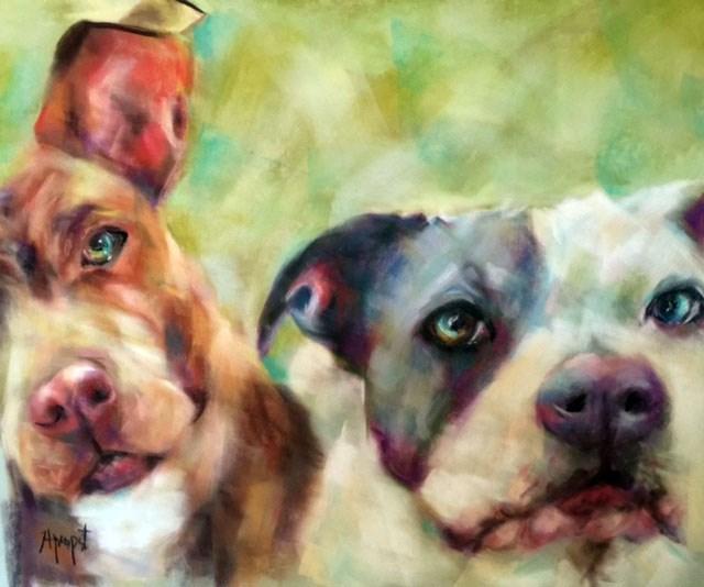 """Buddies"" original fine art by Anne Marie Propst"