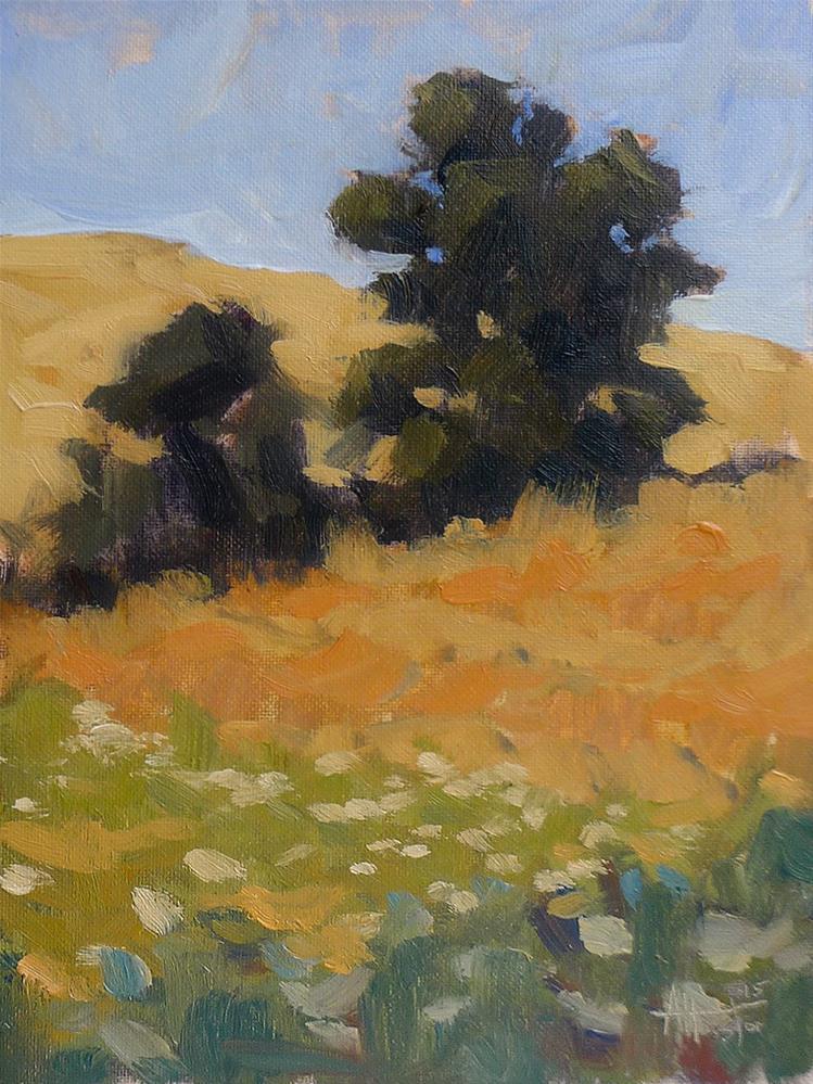 """""""Deer Creek Field"""" original fine art by Adam Houston"""