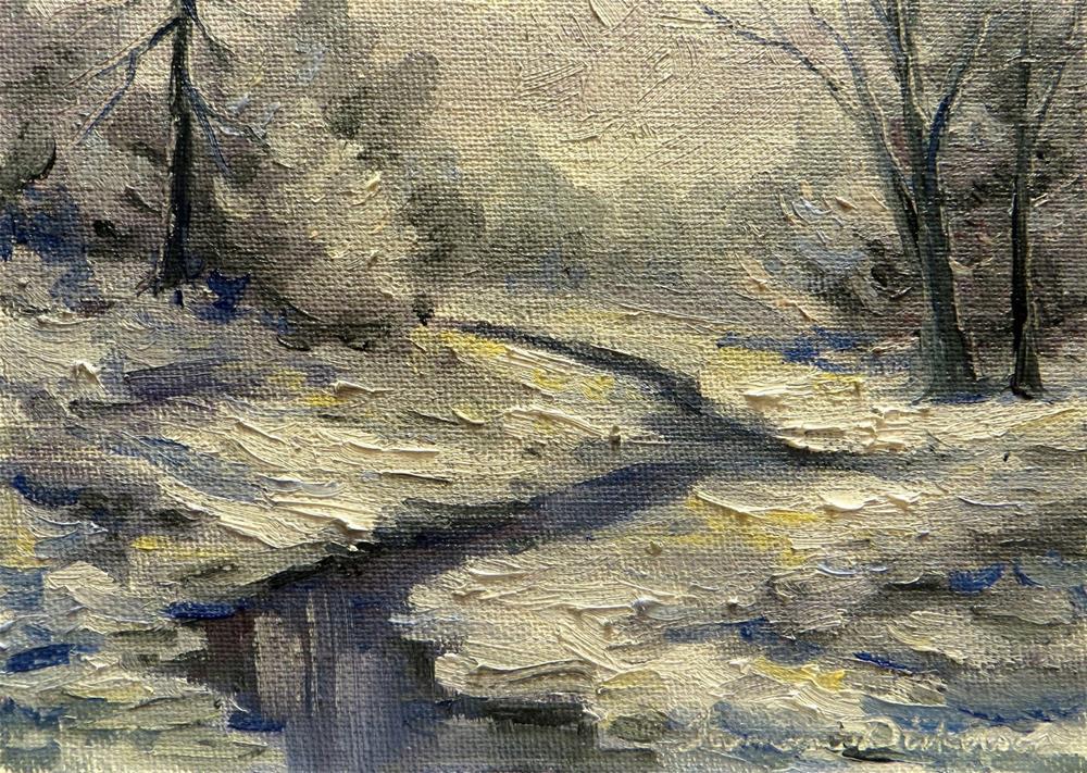 """Winter Creek"" original fine art by Tammie Dickerson"