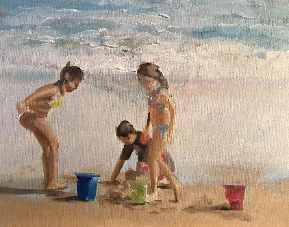 """Beach Fun"" original fine art by James Coates"