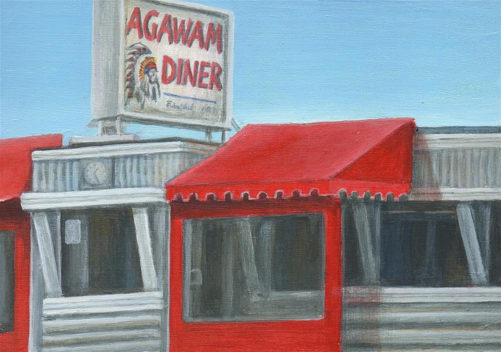 """Agawam Diner"" original fine art by Debbie Shirley"