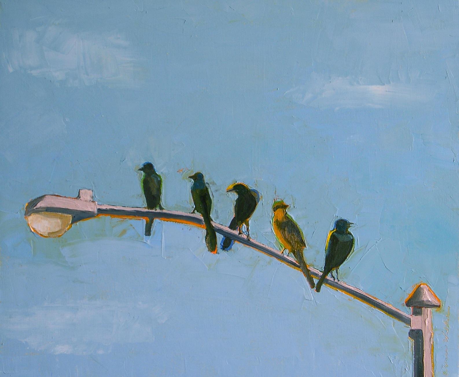 """Five Friends"" original fine art by Donna Walker"
