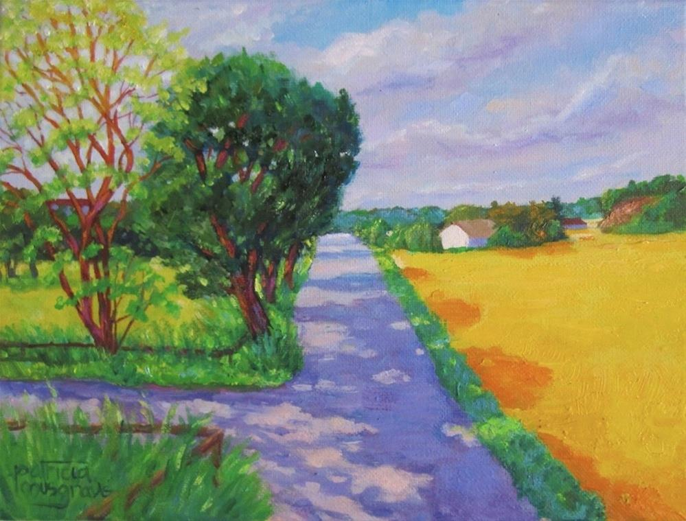 """Country Road, South of Gothenburg, Swenden"" original fine art by Patricia Musgrave"