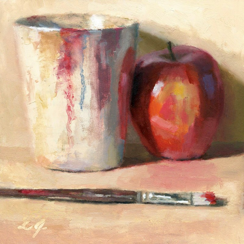 """The Painted Apple"" original fine art by Linda Jacobus"
