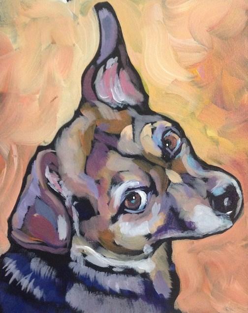 """""""Maggie"""" original fine art by Kat Corrigan"""