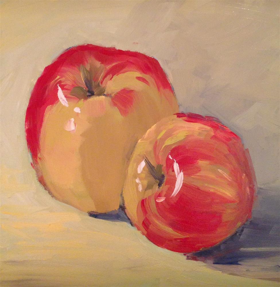 """Winter Apples"" original fine art by Patty Voje"