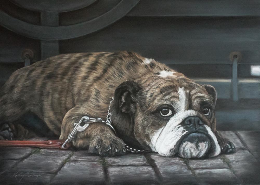 """Bully Blues"" original fine art by Kelly Strope"
