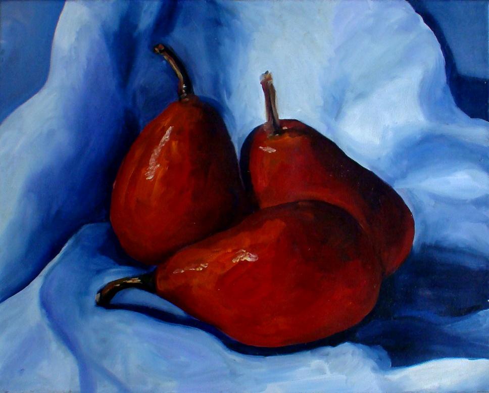 """""""Pears 4 Sale"""" original fine art by Kristen Dukat"""