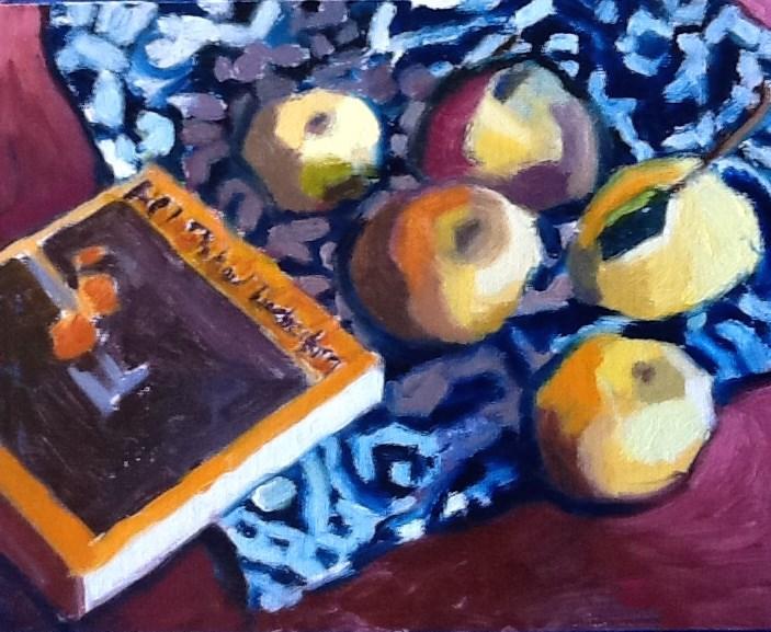 """""""Grapefruit That Look Like Apples,and Diebenkorn"""" original fine art by Pamela Hoffmeister"""