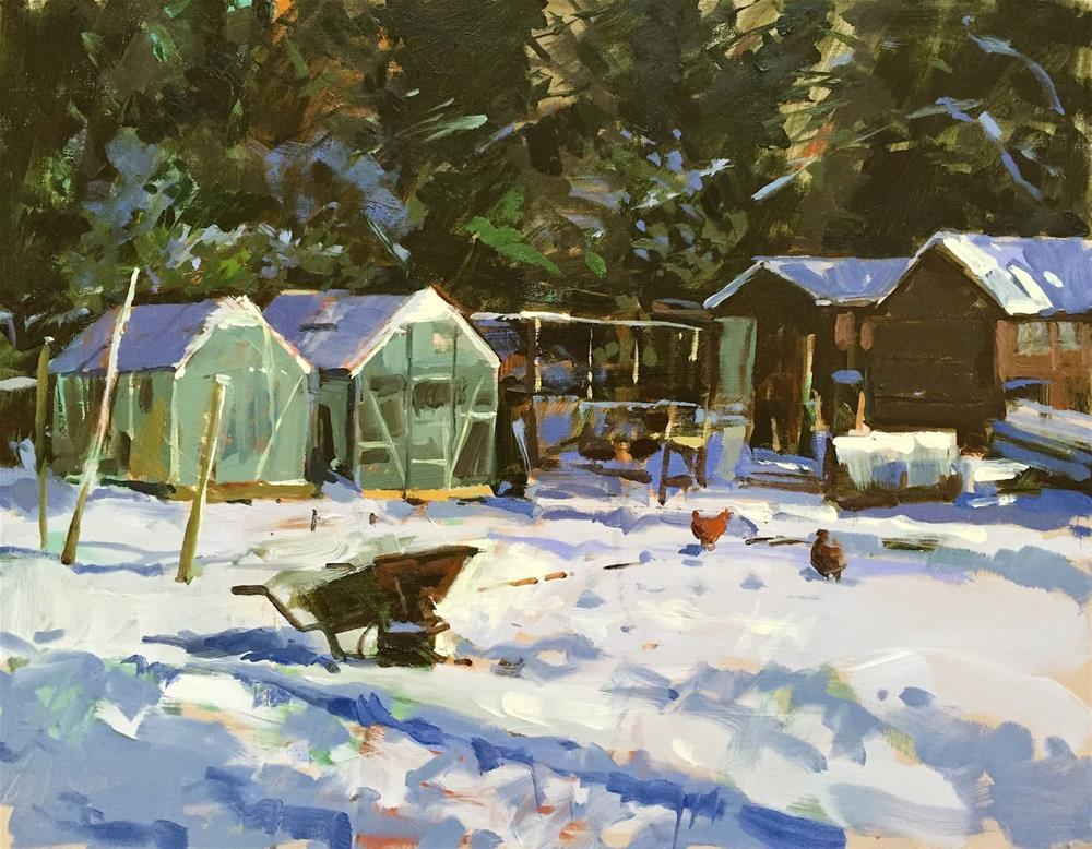 """A cold corner"" original fine art by Haidee-Jo Summers ROI"