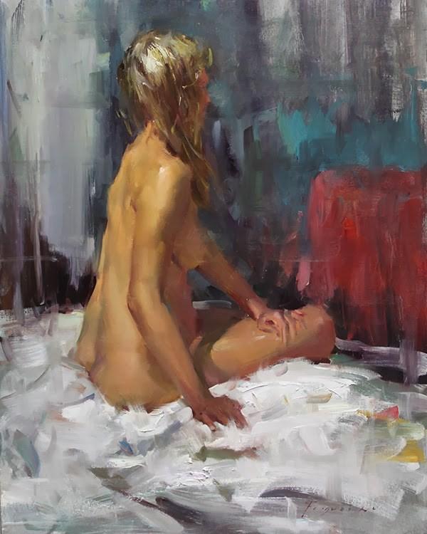 """Figure Study 002"" original fine art by Fongwei Liu"