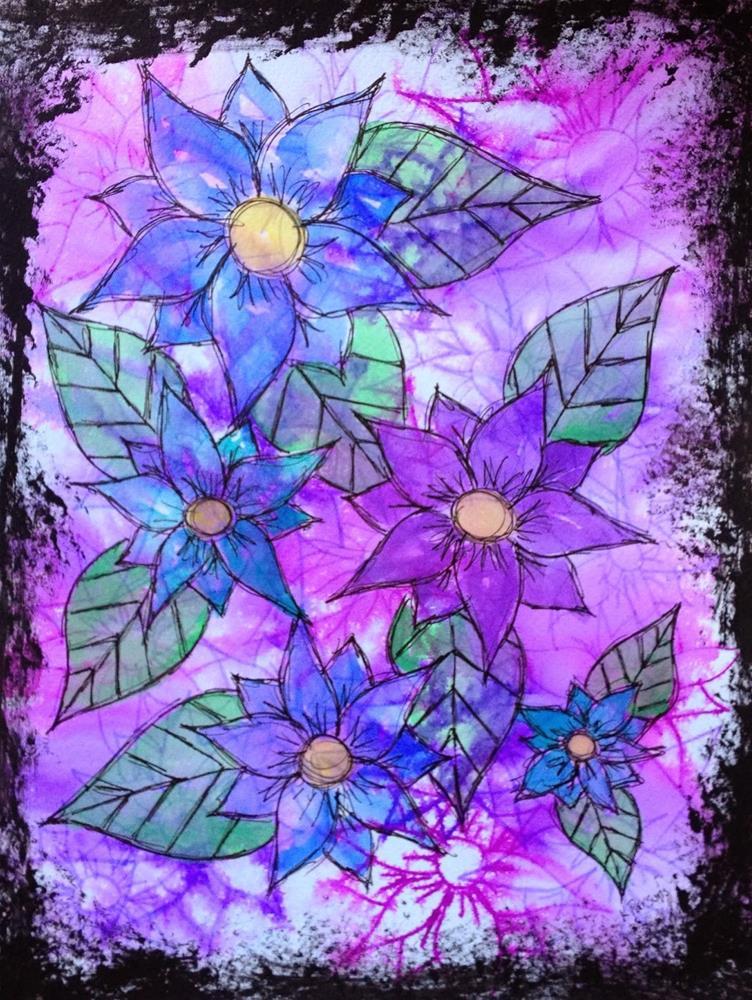 """""""Feeling Flowery"""" original fine art by Kali Parsons"""