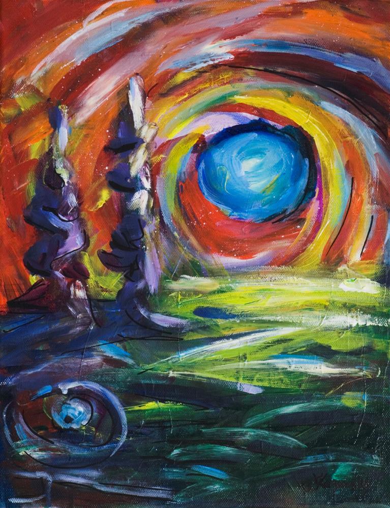 """Blue Moon"" original fine art by Yulia Kazansky"