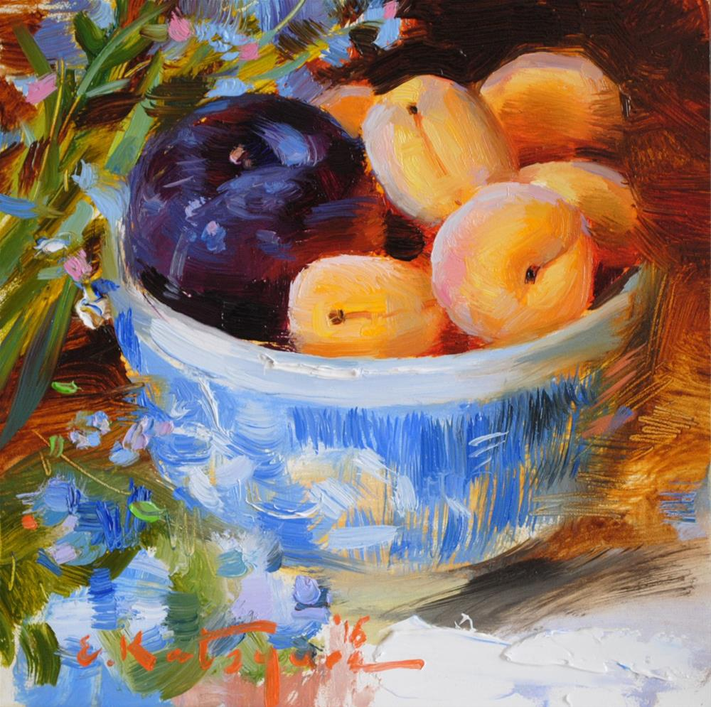 """Spring Bowl of Fruit"" original fine art by Elena Katsyura"